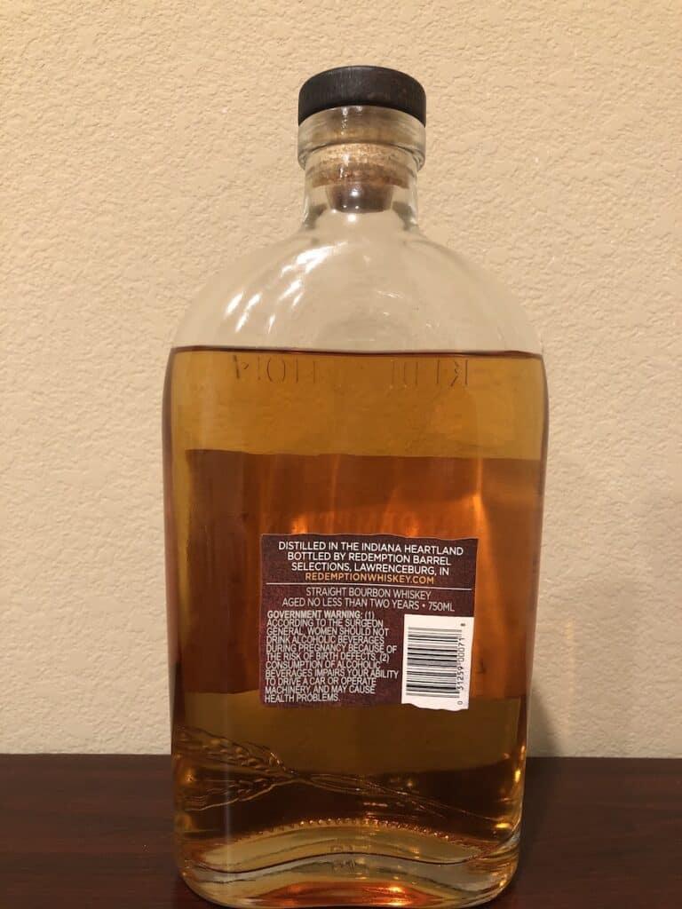 Redemption Bourbon - Back