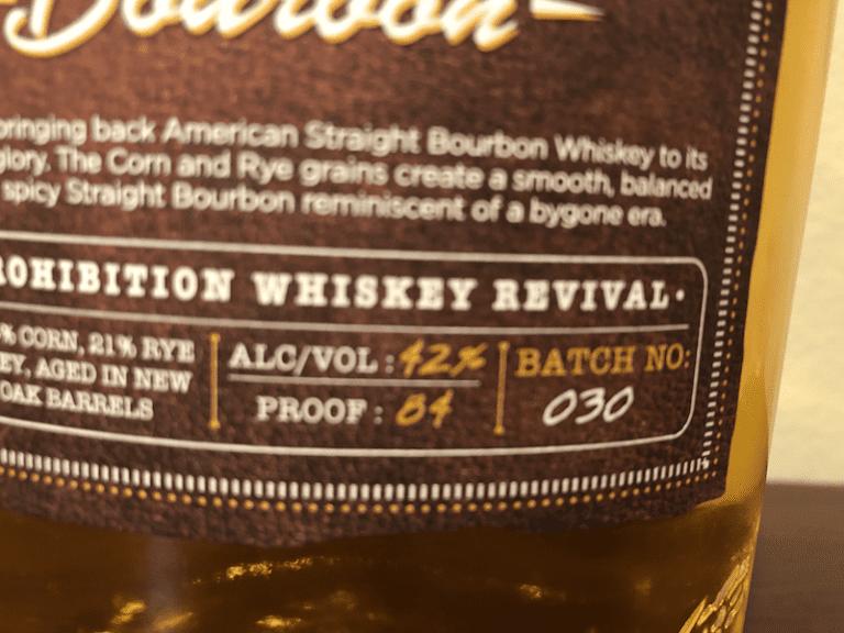 Redemption Bourbon - Batch No. 30