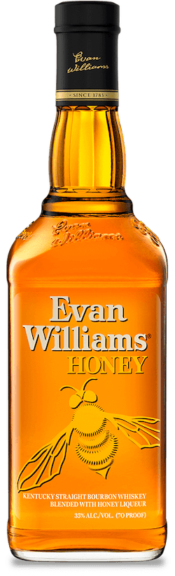 Evan Williams Honey Bourbon bottle