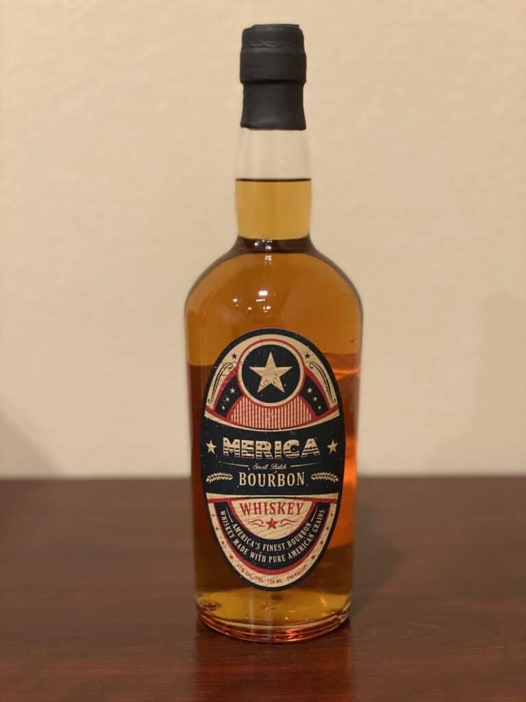 Merica Small Batch Bourbon bottle front
