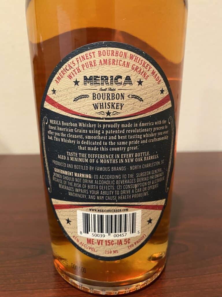 Merica-Small-Batch-Bourbon-bottle-label-back