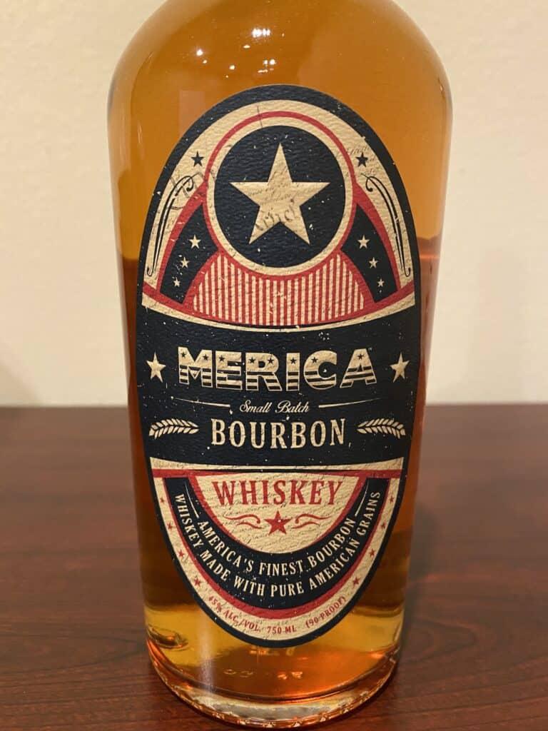 Merica-Small-Batch-Bourbon-bottle-label-front