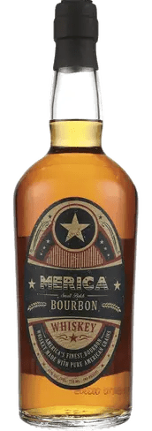 Merica Small Batch Bourbon bottle