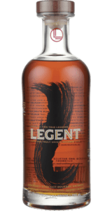 Bottle of Legent Kentucky Straight Bourbon whiskey
