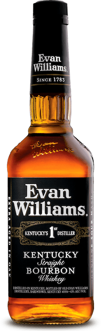 Evan Williams Black Label bottle