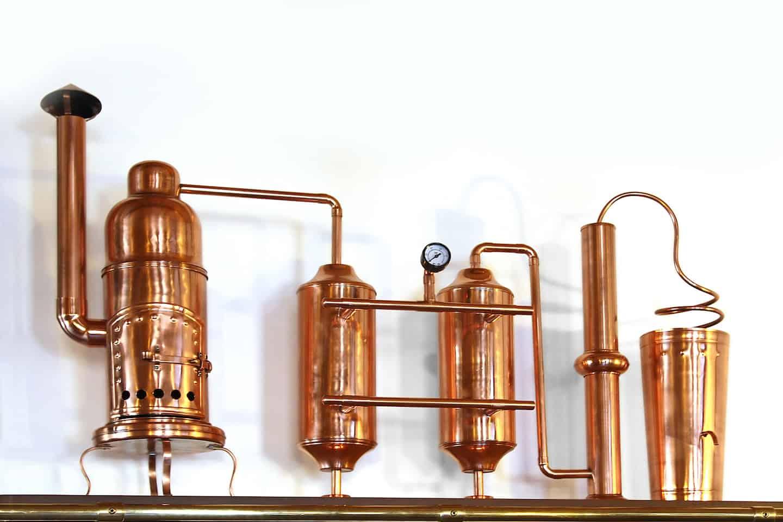 Distilling Alcohol in Alembic copper still