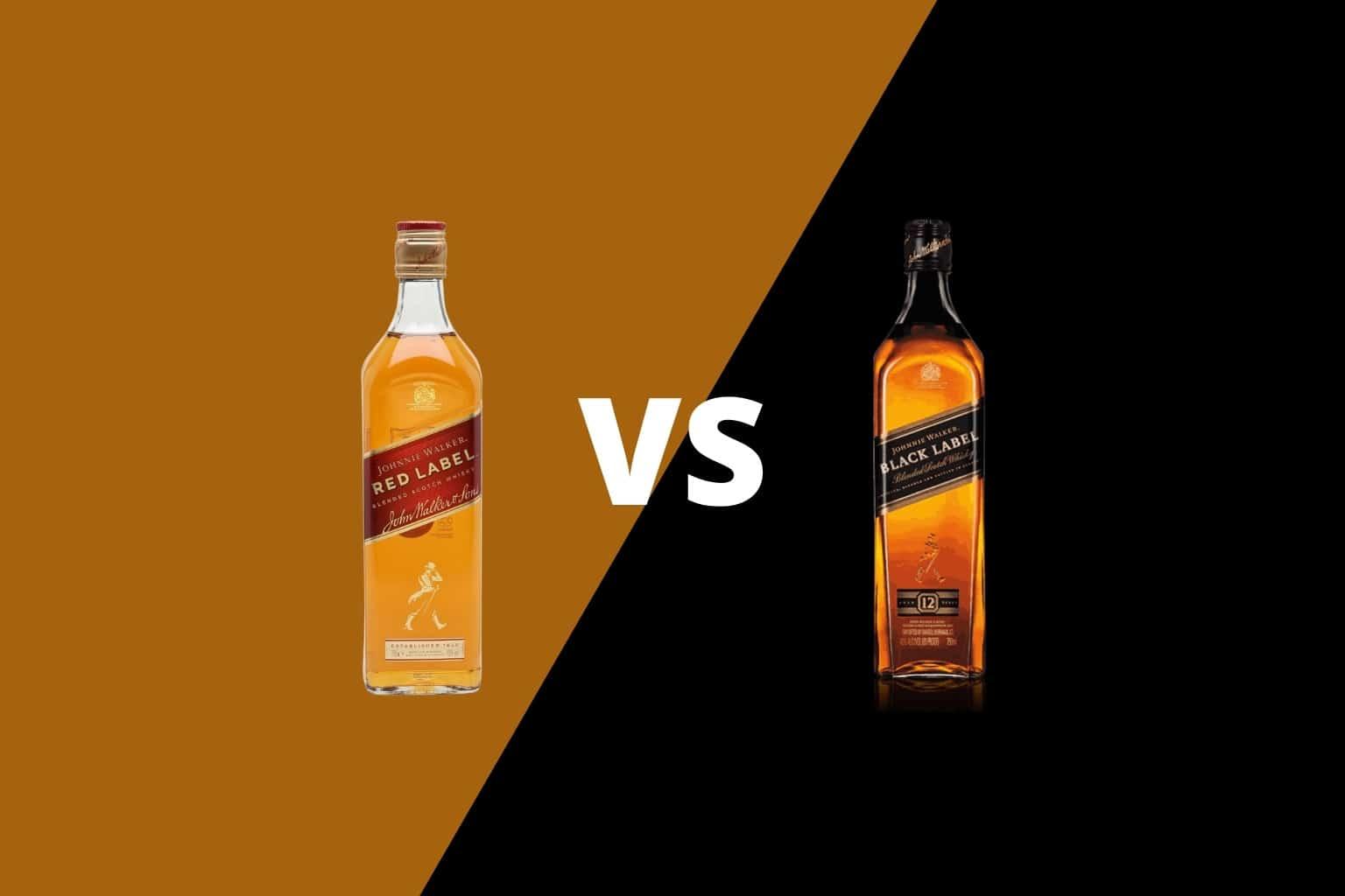 Johnnie Walker Red vs Black