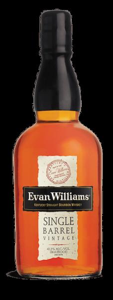 Evan Williams Single Barrel Bourbon bottle