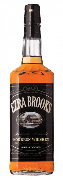 Ezra Brooks Bourbon bottle